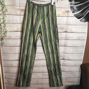 InWear green striped high waisted pants size 4